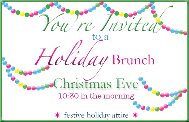 Holiday Brunch Invite
