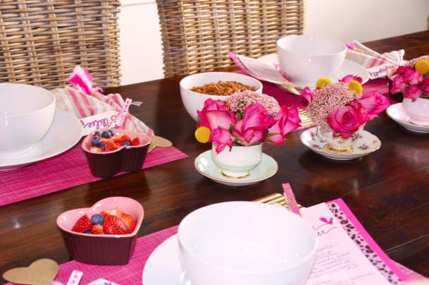 A Galentine's Day Brunch Table