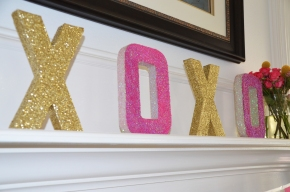 How To : Valentine Glitter Letters