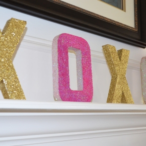 How To : Valentine GlitterLetters
