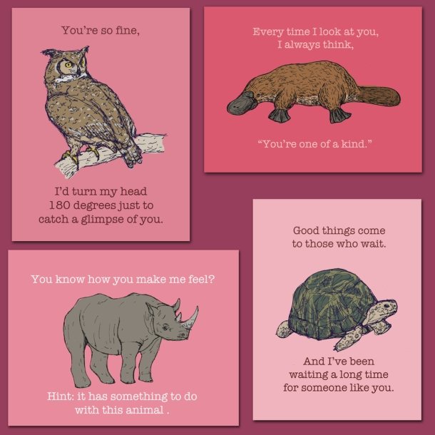 Otter Illustration Valentines