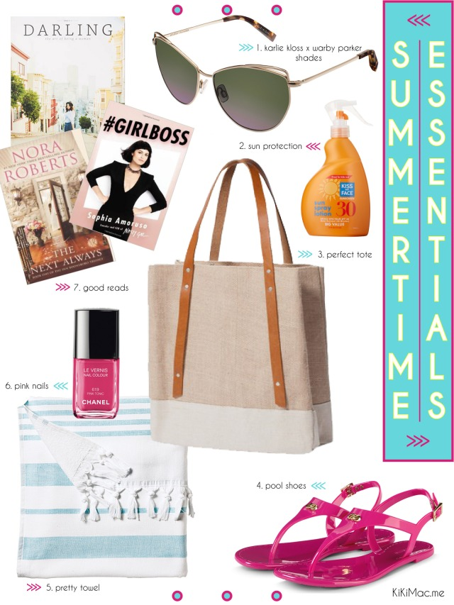Summertime Essentials // KiKiMac.me