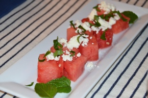 Summer Salad with Watermelon, Feta + Mint
